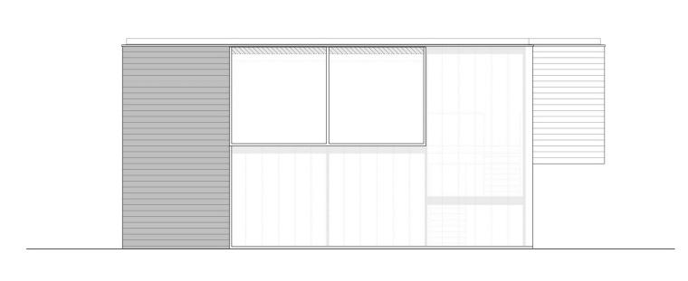 南立面图 south elevation-霍滕消防站第10张图片