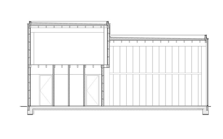 剖面图 cross section-霍滕消防站第11张图片