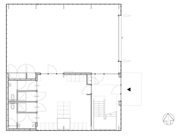 首层平面图 ground floor plan-霍滕消防站第12张图片