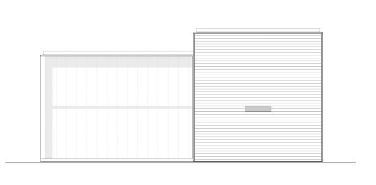 西立面图 west elevation-霍滕消防站第13张图片