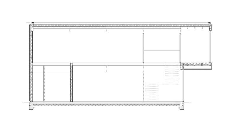 纵向剖面图 longitudinal sectio-霍滕消防站第14张图片