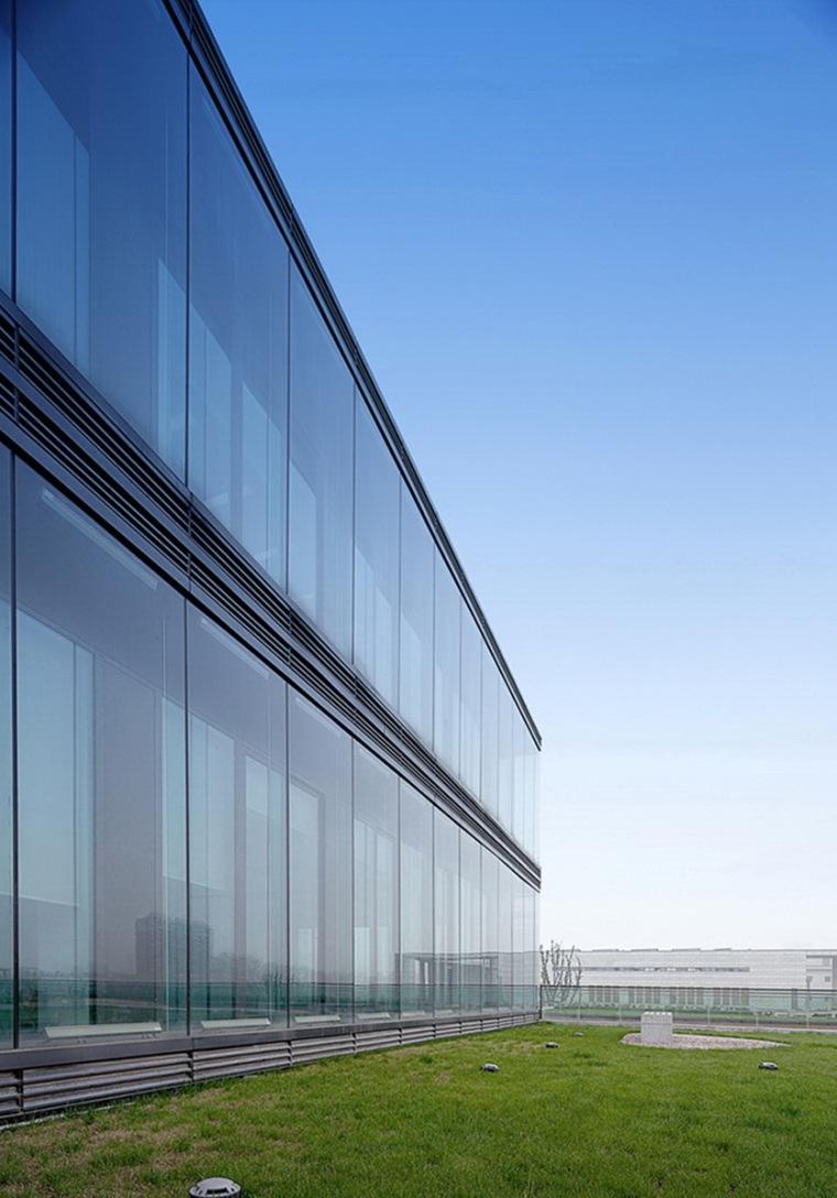 双层玻璃幕墙与种植屋面-长兴广播电视台第17张图片