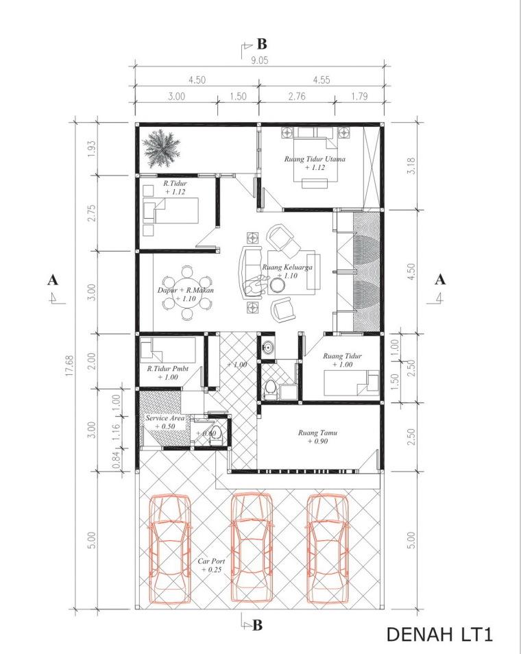 布局图01 layout plan copy01-垂直条形码住宅第12张图片