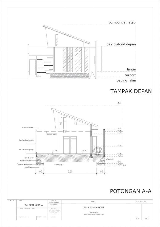 前立面和剖面图 front and sect-垂直条形码住宅第14张图片