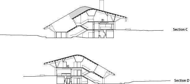 剖面图02 sections02-格伦伊格尔斯社区中心第17张图片