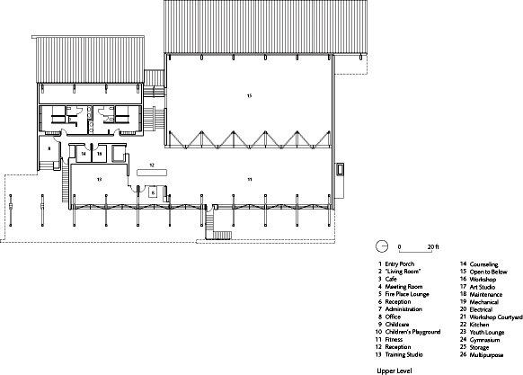 上层平面图 upper floor plan-格伦伊格尔斯社区中心第18张图片
