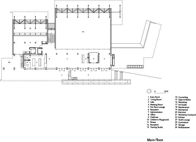 主平面图 main floor plan-格伦伊格尔斯社区中心第19张图片