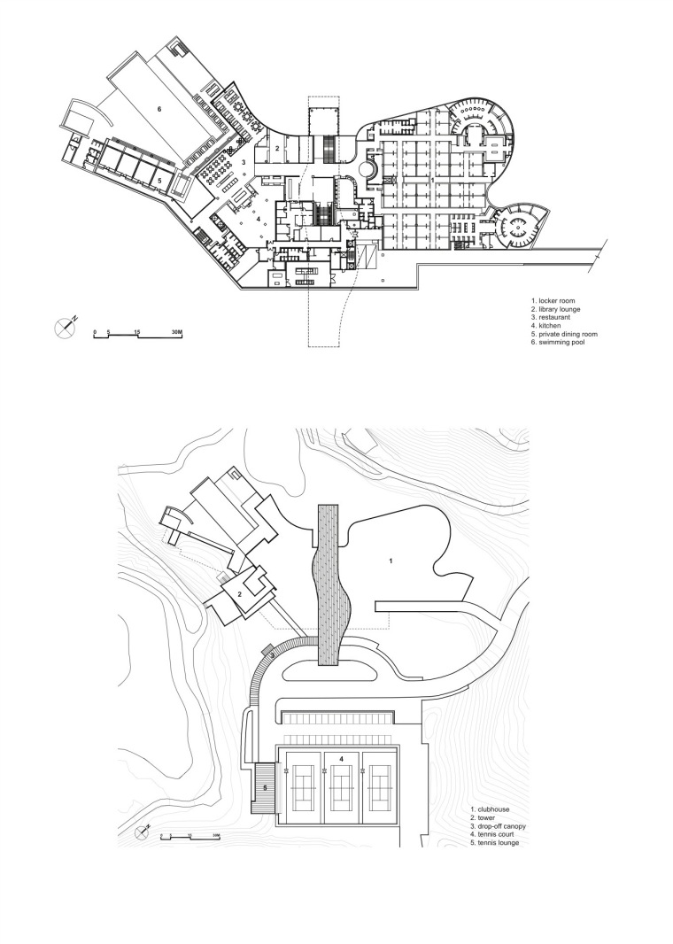 平面图和场地图 floor plan and -安娜提俱乐部第13张图片