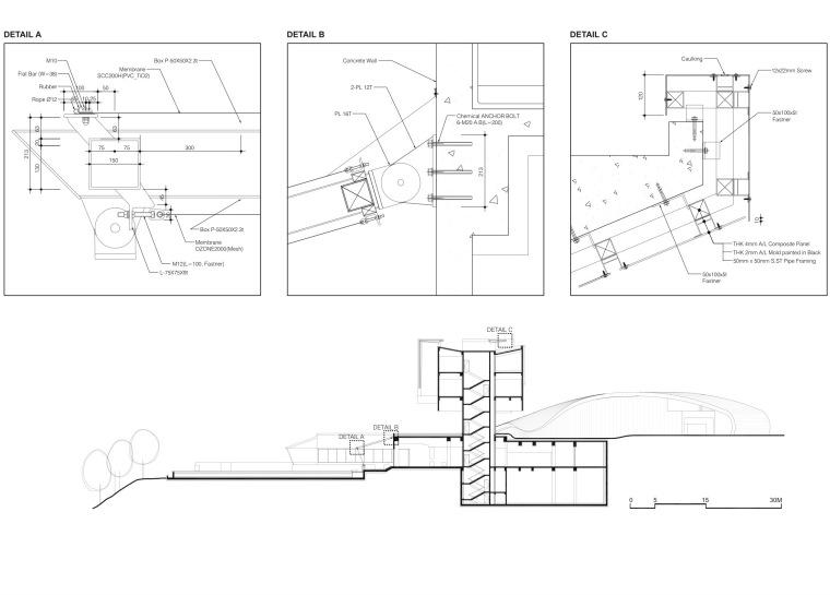 细节剖面图 detailed section-安娜提俱乐部第16张图片