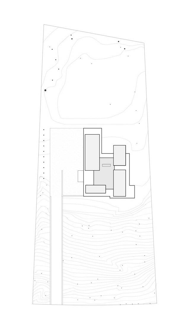 位置平面图 site plan-黑白住宅第17张图片