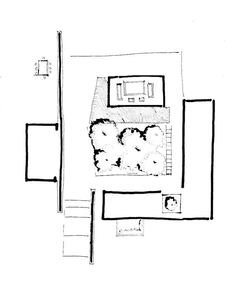 平面草图 plan sketch-卡达卡哇斯拉住宅第24张图片
