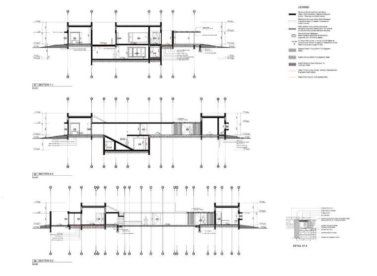 细节剖面图01 detailed section -卡达卡哇斯拉住宅第29张图片