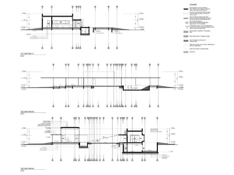 细节剖面图02 detailed section -卡达卡哇斯拉住宅第30张图片