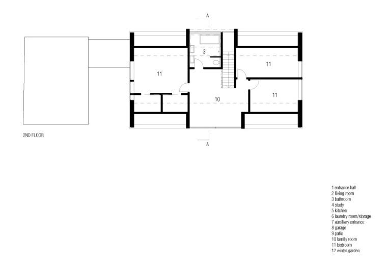 三层平面图 plan 2nd floor-利马别墅第20张图片