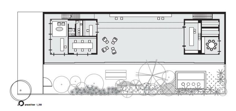 首层平面图 ground floor plan-SC摄影工作室第5张图片