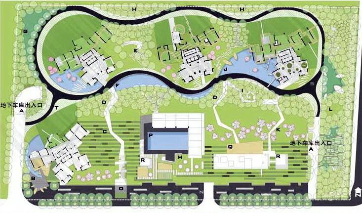 深圳蛇口后海公馆住宅区景观规划设计第7张图片