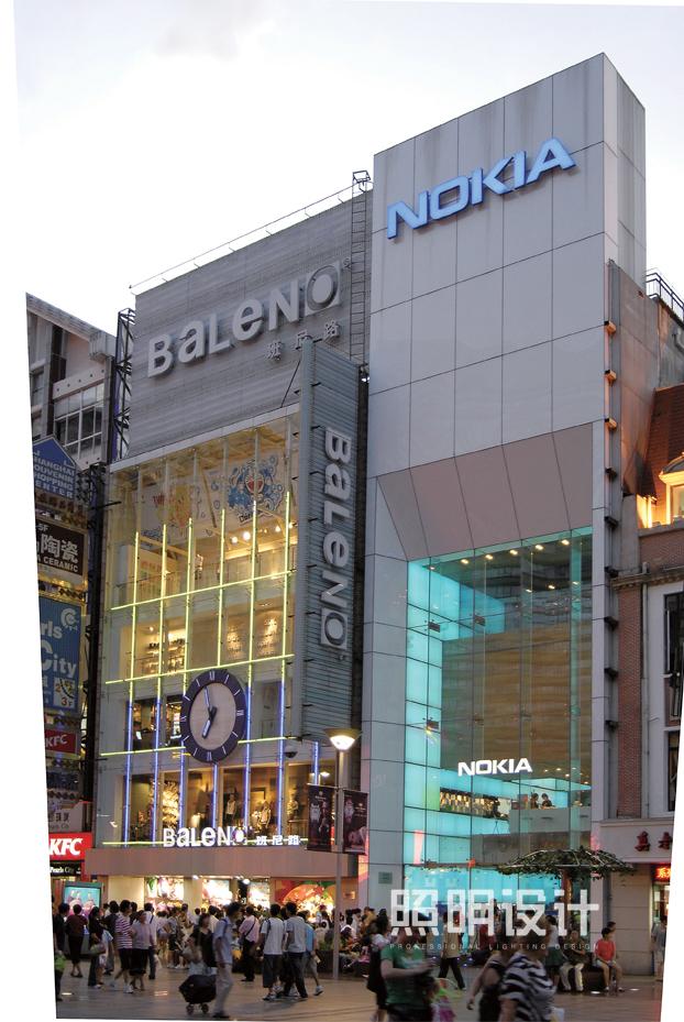 上海诺基亚旗舰店建筑照明设计