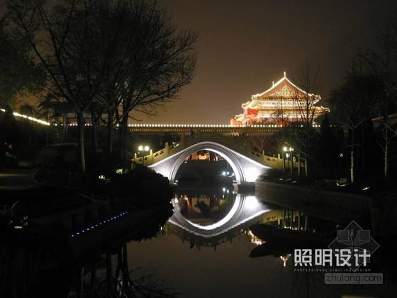 北京菖蒲河公园夜景照明设计