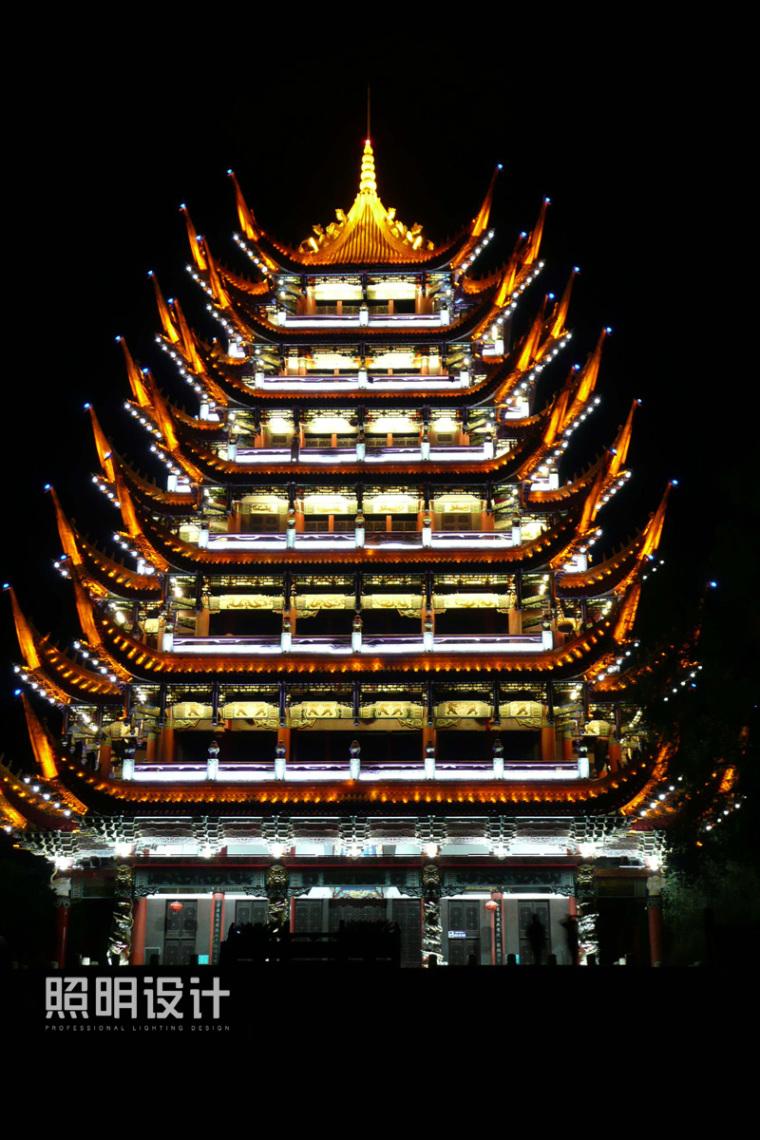 四川省遂宁市灵泉风景区夜景照明设计