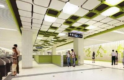 北京地铁八号线室内设计第4张图片