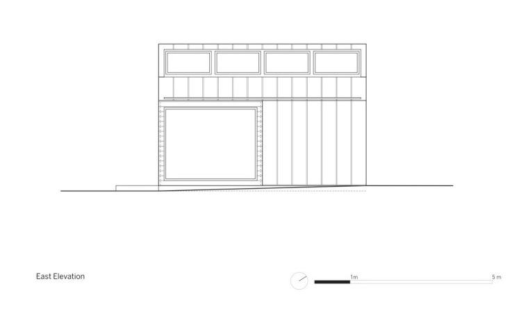 东立面图 East Elevation-依附住宅第11张图片