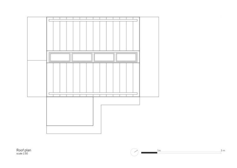 楼顶平面图 Roof Plan-依附住宅第12张图片