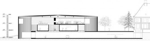 剖面图 section-Serlachius博物馆扩建方案第8张图片