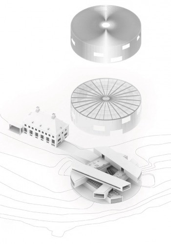 轴测图 axonometric view-Serlachius博物馆扩建方案第9张图片