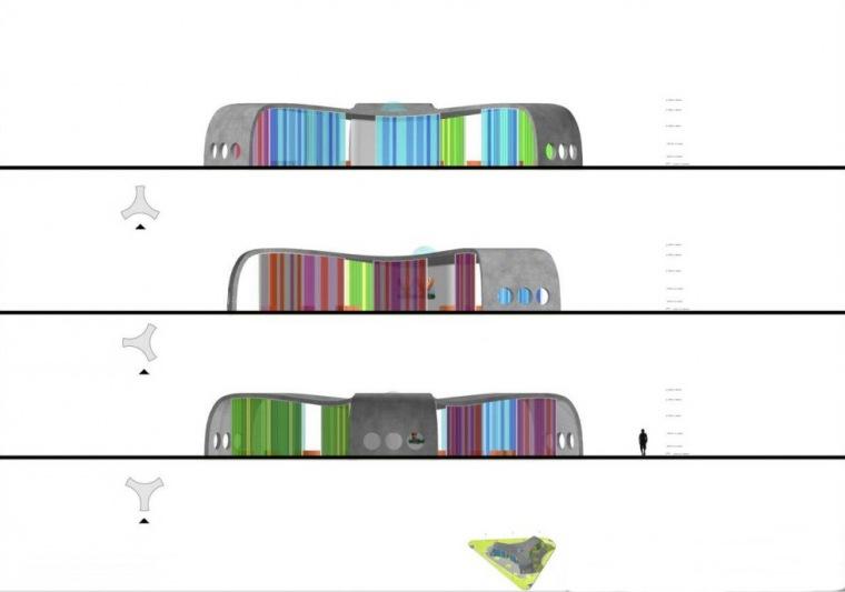 立面图 elevations-Park+Ride公车站第8张图片