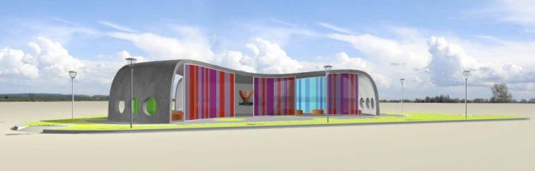 渲染 rendering-Park+Ride公车站第14张图片