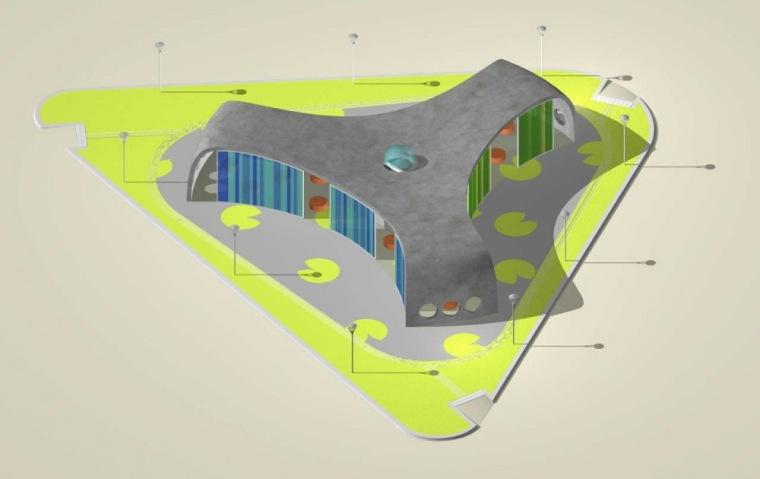 轴测图 axon-Park+Ride公车站第15张图片
