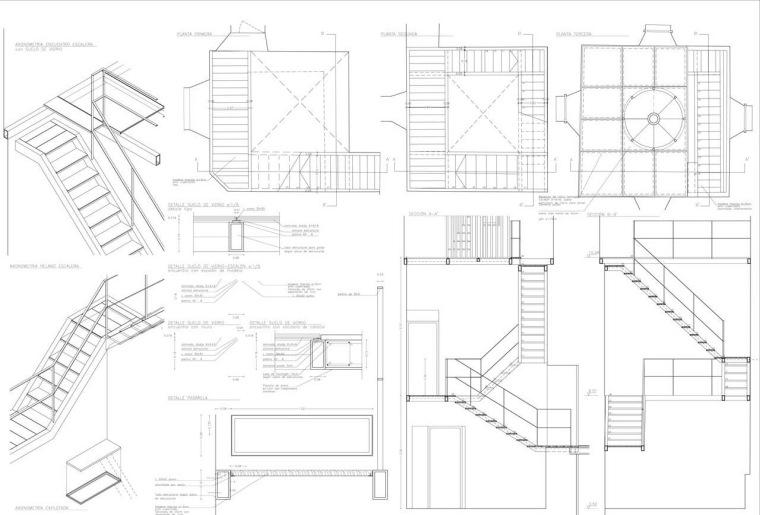 低层楼梯细节 tower stair detai-Masia Can Guasch学院第21张图片