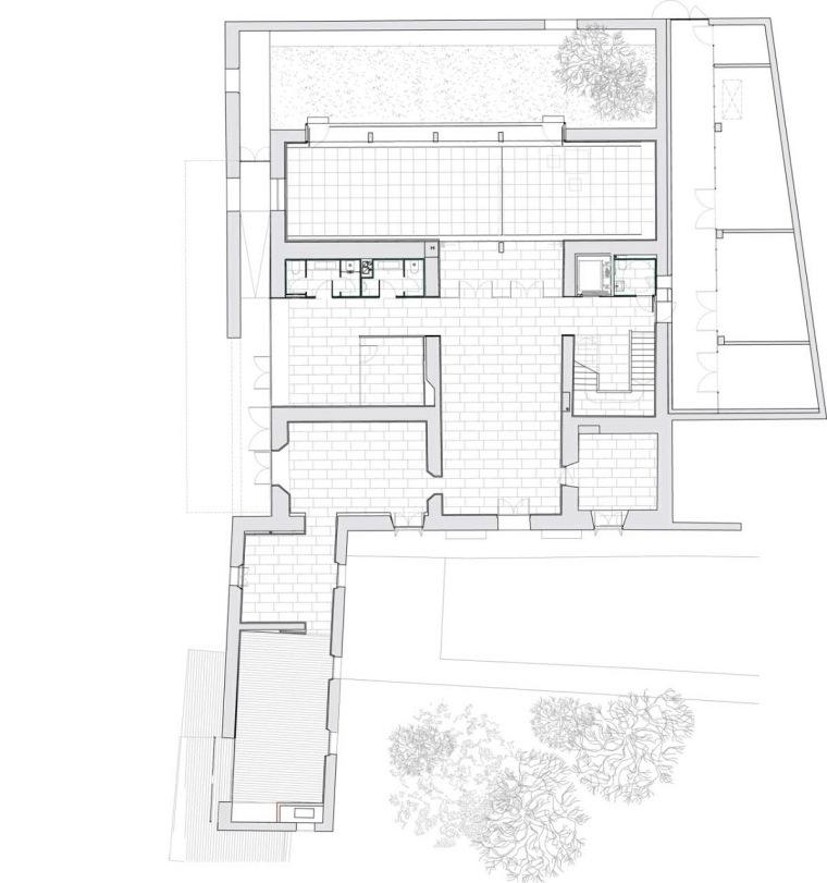 平面图01 plan 01-Masia Can Guasch学院第22张图片