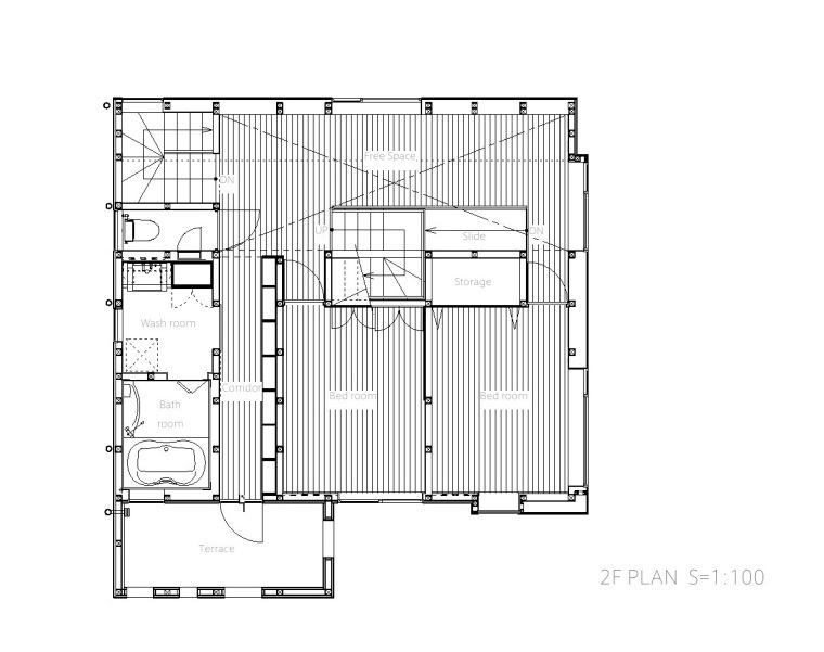 平面图01 Plan01-Togoshi住宅第21张图片