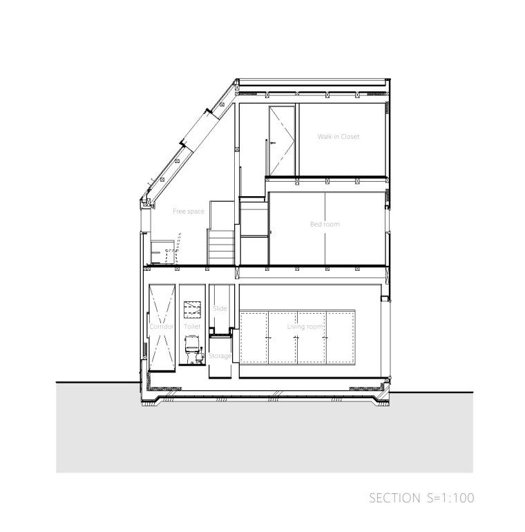 剖面图02 Section02-Togoshi住宅第25张图片