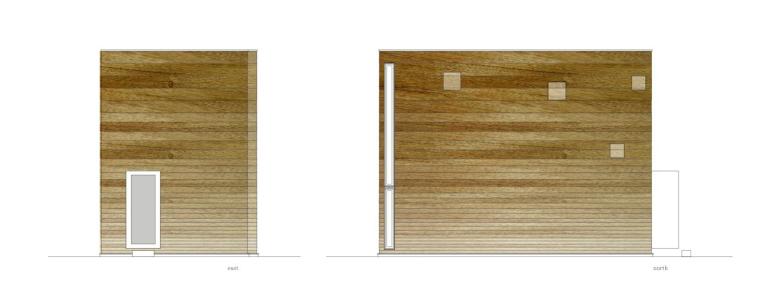 东&北立面图 East & Nor-矩形光住宅第17张图片
