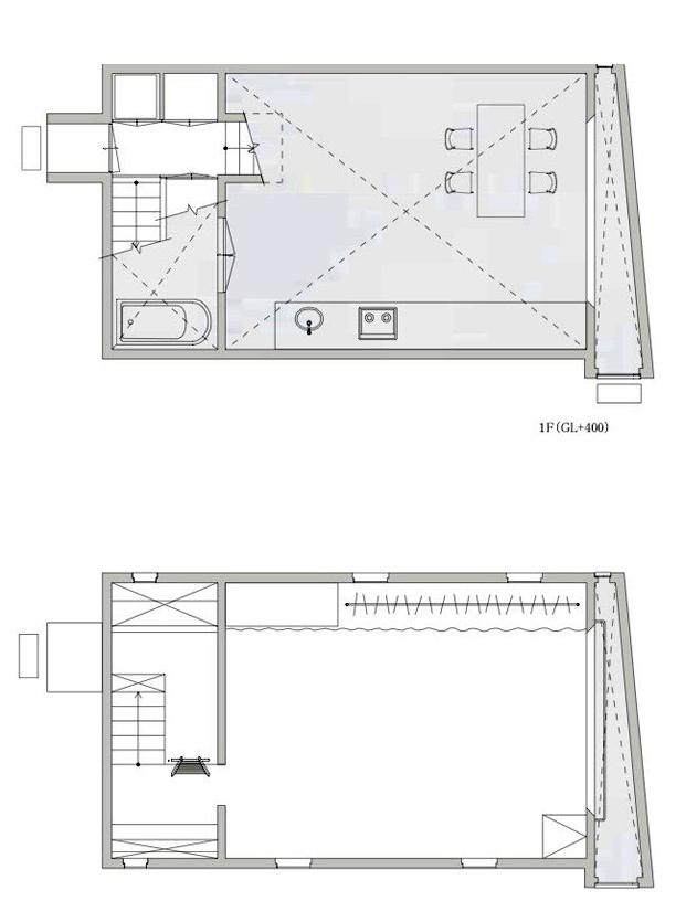 平面图01 Plans01-矩形光住宅第18张图片