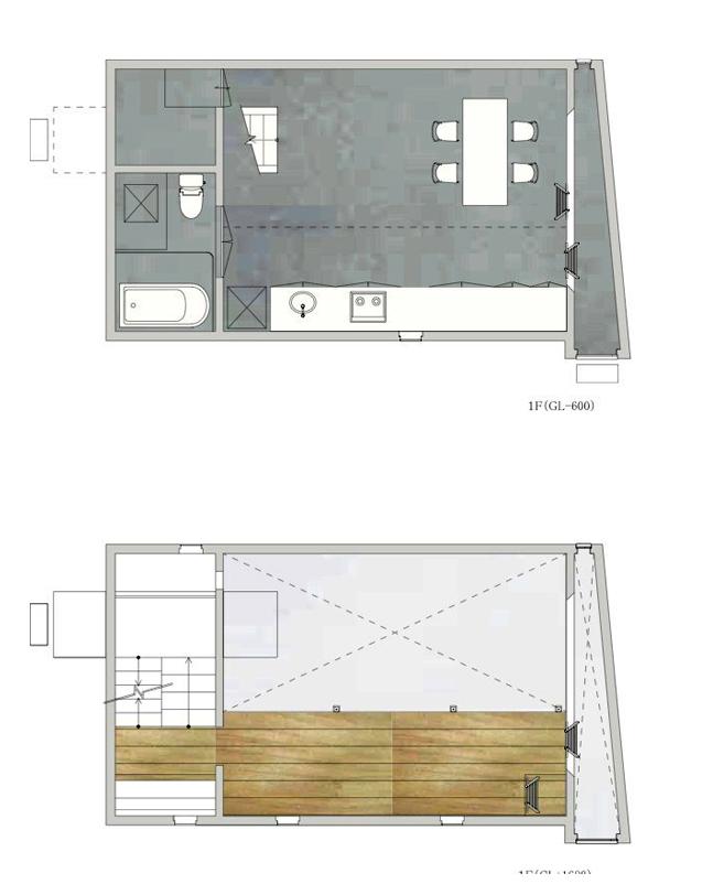 平面图02 Plans02-矩形光住宅第19张图片