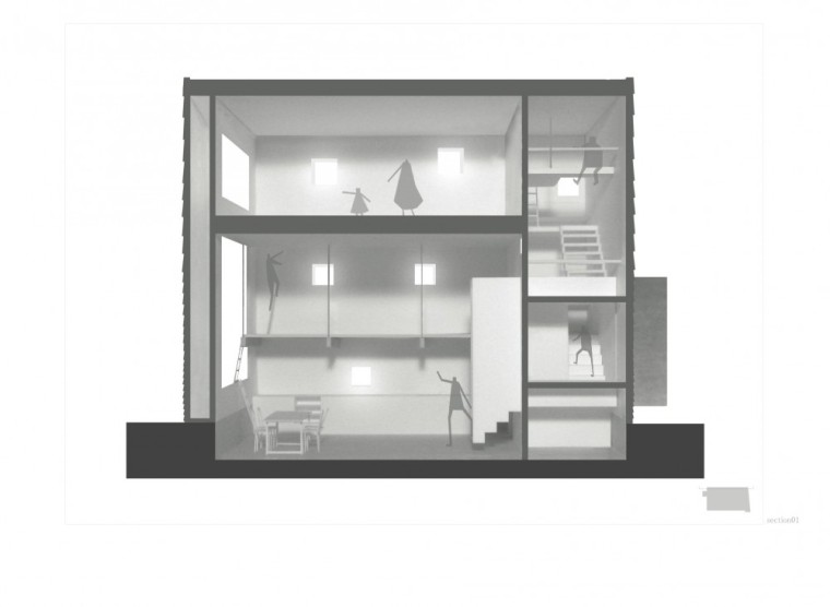 剖面图02 Section02-矩形光住宅第22张图片
