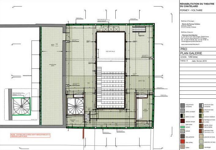平面图01 plan 01-Chatelard剧院第11张图片