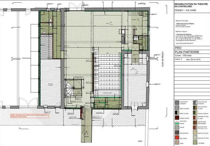 平面图02 plan 02-Chatelard剧院第12张图片