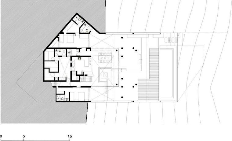 一层平面图 First Floor Plan-Q海滩住宅第27张图片