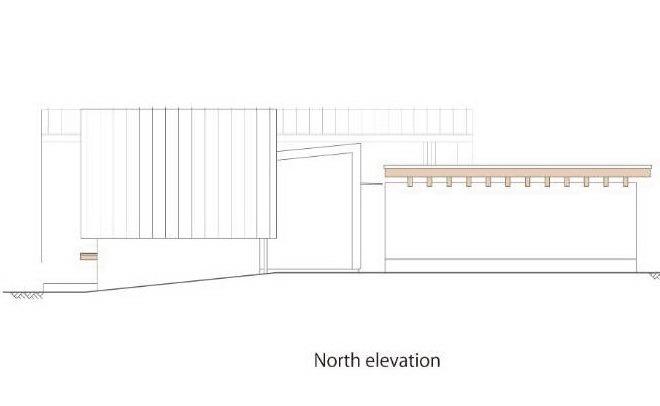 北立面图 north elevation-贵志川住宅第20张图片