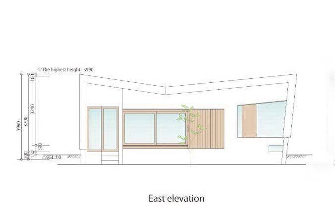 东立面图 east elevation-贵志川住宅第21张图片