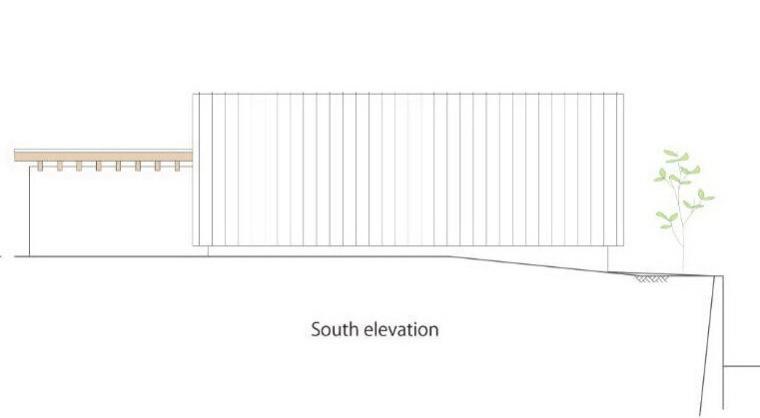 南立面图 south elevation-贵志川住宅第22张图片