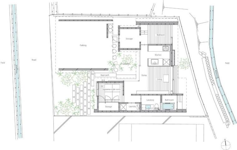 平面图 plan-贵志川住宅第23张图片