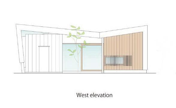 西立面图 west elevation-贵志川住宅第25张图片