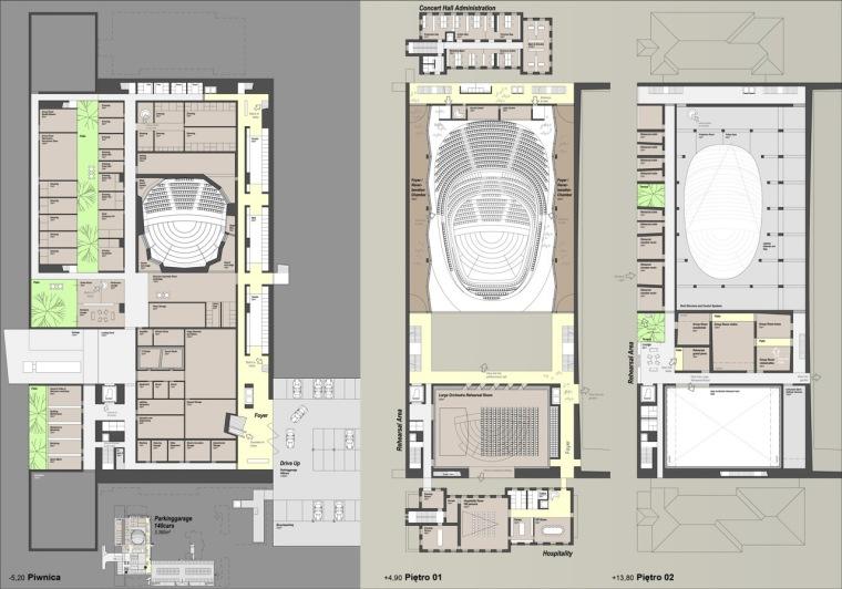 平面图02 plan02-Sinfonia Varsovia音乐厅第3张图片