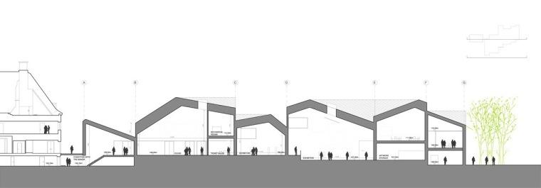 剖面图01 section01-Serlachius博物馆扩建方案第14张图片