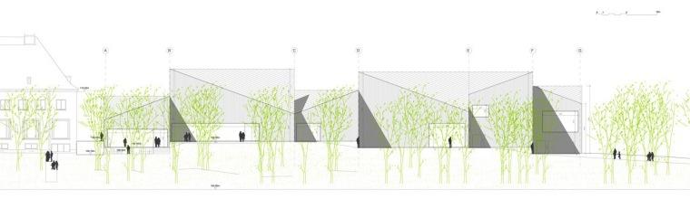 剖面图02 section02-Serlachius博物馆扩建方案第15张图片